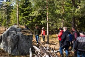 Nyupptäckt sten med fornristningar